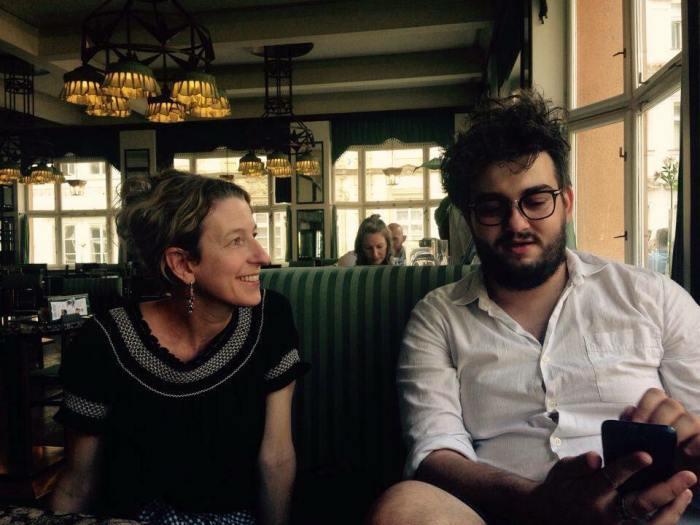 with poet and translator, Velid