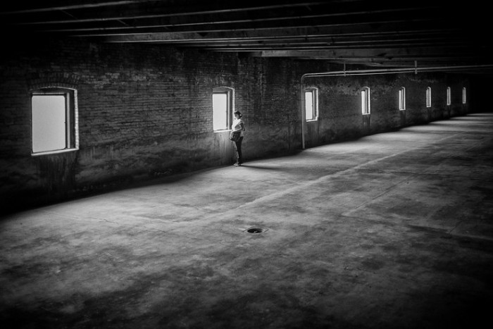 Woman-in-empty-warehouse-poetic-voices