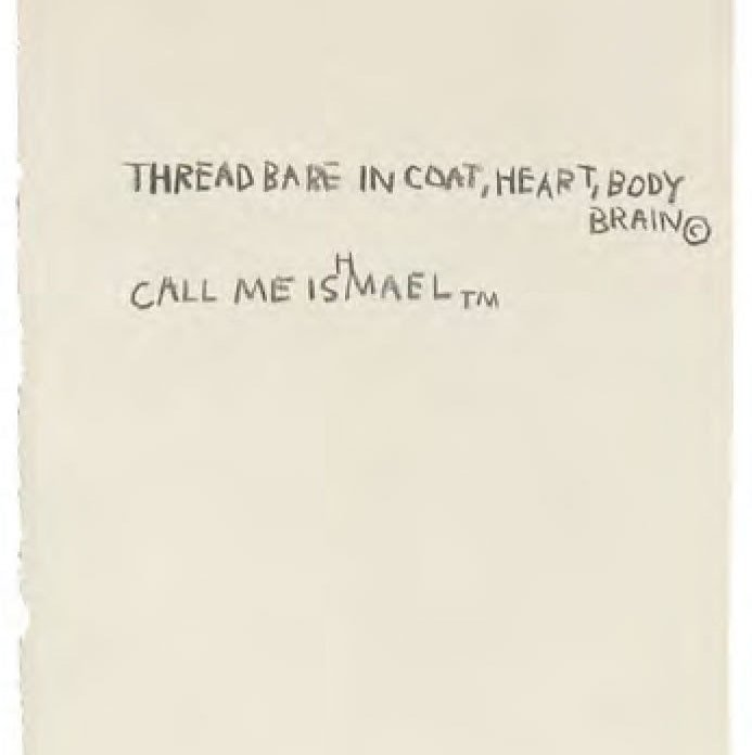 Basquiat's Notebook, Text from Moby Dick